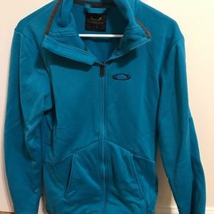 Oakley turquoise full zip sweatshirt!